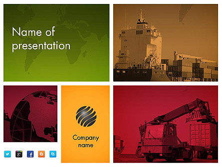 Logistics Presentation PowerPoint Template, 11801, Cars and Transportation — PoweredTemplate.com