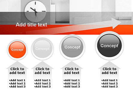 Clock On Wall With Cubes PowerPoint Template Slide 13