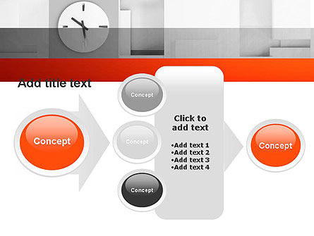 Clock On Wall With Cubes PowerPoint Template Slide 17