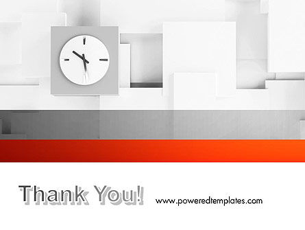Clock On Wall With Cubes PowerPoint Template Slide 20