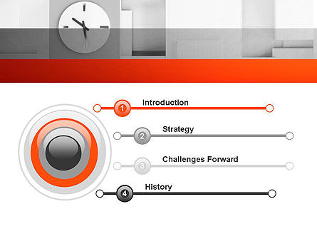 Clock On Wall With Cubes PowerPoint Template, Slide 3, 11804, Business — PoweredTemplate.com