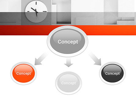Clock On Wall With Cubes PowerPoint Template, Slide 4, 11804, Business — PoweredTemplate.com