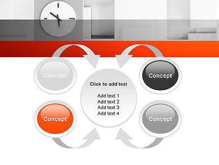 Clock On Wall With Cubes PowerPoint Template Slide 6