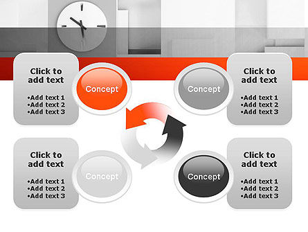 Clock On Wall With Cubes PowerPoint Template Slide 9