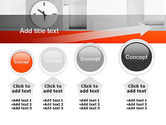 Clock On Wall With Cubes PowerPoint Template#13