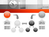 Clock On Wall With Cubes PowerPoint Template#19