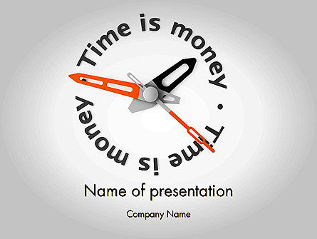 Time is Money Clock PowerPoint Template