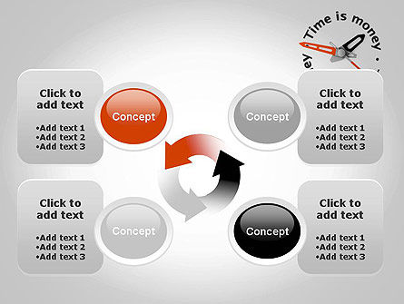 Time is Money Clock PowerPoint Template Slide 9