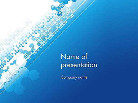 Abstract Blue with Cells PowerPoint Template, 11814, Abstract/Textures — PoweredTemplate.com