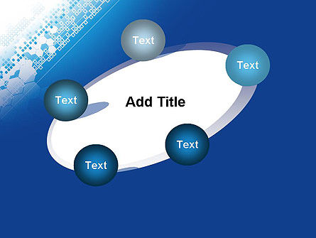 Abstract Blue with Cells PowerPoint Template Slide 14