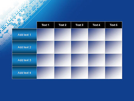 Abstract Blue with Cells PowerPoint Template Slide 15