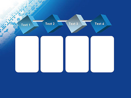 Abstract Blue with Cells PowerPoint Template Slide 18