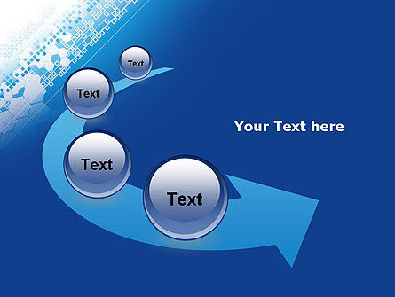 Abstract Blue with Cells PowerPoint Template Slide 6