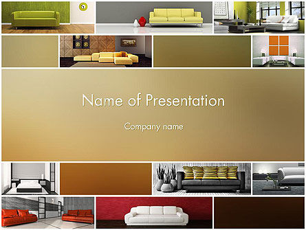 Interior Design Ideas PowerPoint Template, 11817, Careers/Industry — PoweredTemplate.com