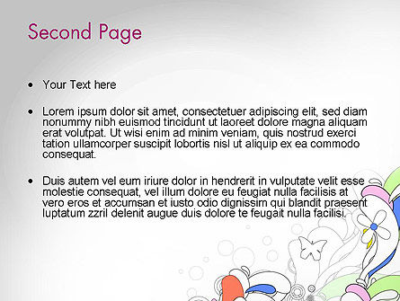 Color Abstraction PowerPoint Template Slide 2