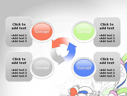 Color Abstraction PowerPoint Template Slide 9