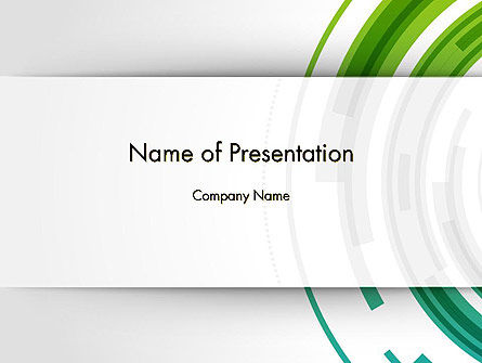 Green Circles Theme PowerPoint Template