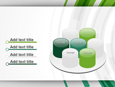 Green Circles Theme PowerPoint Template Slide 12