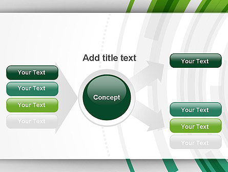 Green Circles Theme PowerPoint Template Slide 15