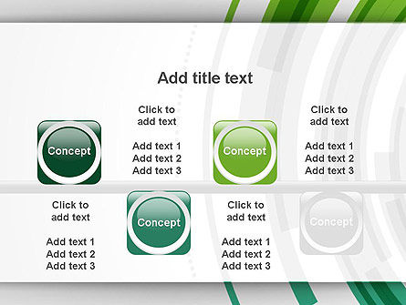 Green Circles Theme PowerPoint Template Slide 18