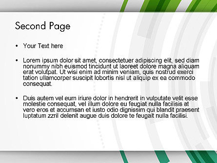 Green Circles Theme PowerPoint Template Slide 2