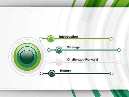 Green Circles Theme PowerPoint Template Slide 3