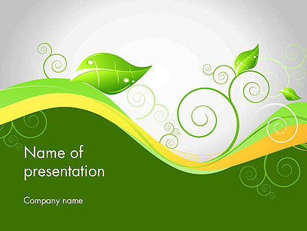 Abstract Floral PowerPoint Template