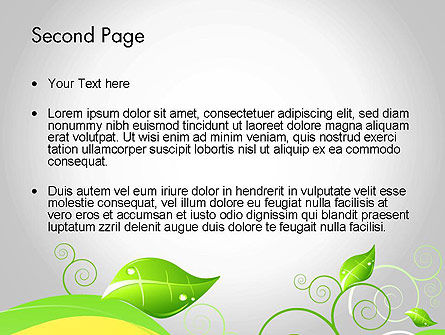 Abstract Floral PowerPoint Template Slide 2