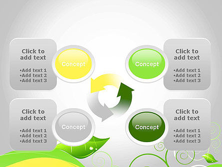 Abstract Floral PowerPoint Template Slide 9