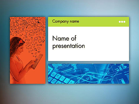 Technology and Science: Communication Presentation PowerPoint Template #11825