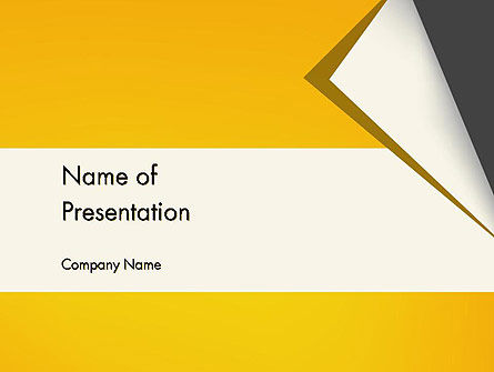 Business: Folded Paper PowerPoint Template #11826