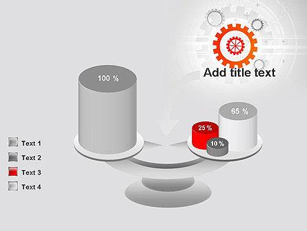 Flat Design Gears PowerPoint Template Slide 10