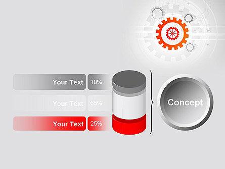 Flat Design Gears PowerPoint Template Slide 11