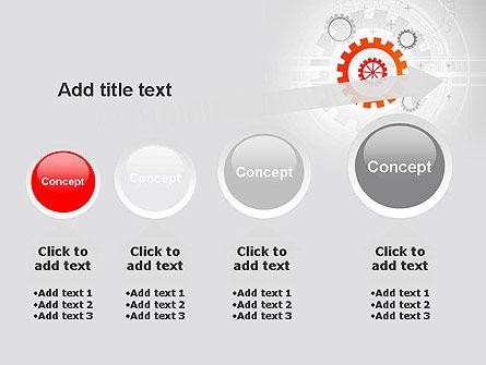 Flat Design Gears PowerPoint Template Slide 13