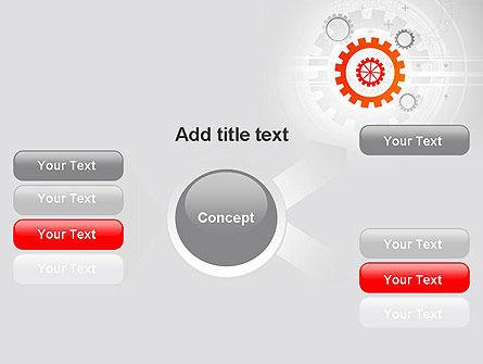 Flat Design Gears PowerPoint Template Slide 14