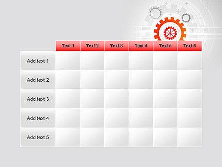 Flat Design Gears PowerPoint Template Slide 15