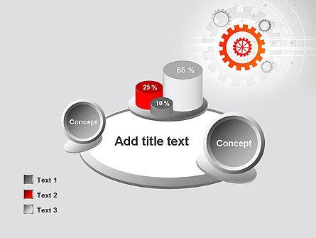 Flat Design Gears PowerPoint Template Slide 16