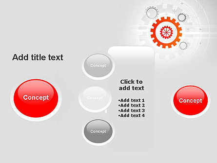 Flat Design Gears PowerPoint Template Slide 17