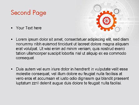 Flat Design Gears PowerPoint Template Slide 2