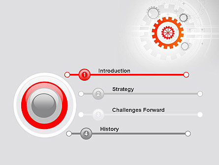 Flat Design Gears PowerPoint Template Slide 3