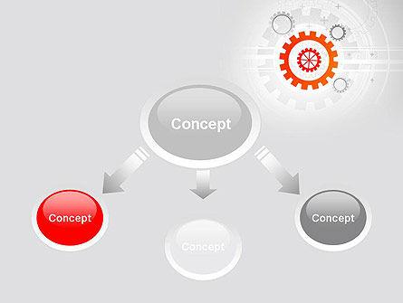 Flat Design Gears PowerPoint Template Slide 4