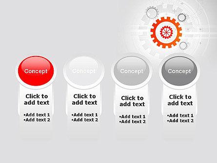 Flat Design Gears PowerPoint Template Slide 5