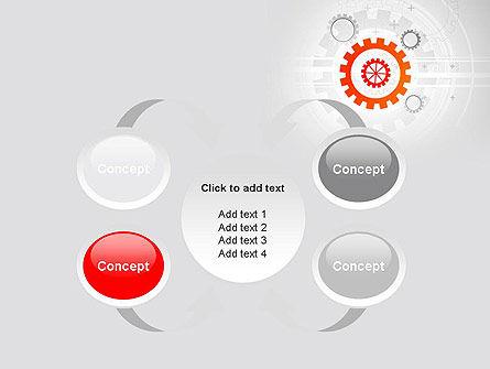 Flat Design Gears PowerPoint Template Slide 6