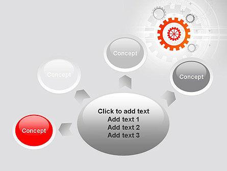 Flat Design Gears PowerPoint Template Slide 7