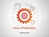 Business Concepts: Flat Design Gears PowerPoint Template #11828
