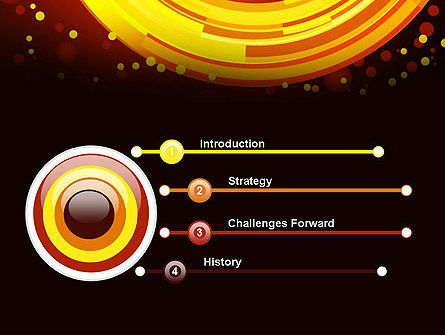 Circles and Dots PowerPoint Template Slide 3