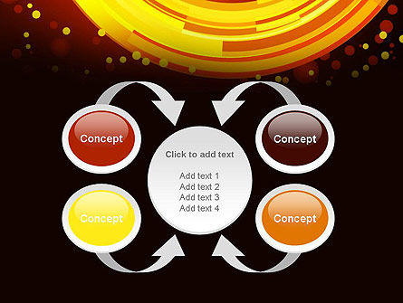 Circles and Dots PowerPoint Template Slide 6