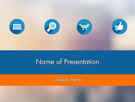 Online Shop Presentation PowerPoint Template, 11831, Careers/Industry — PoweredTemplate.com