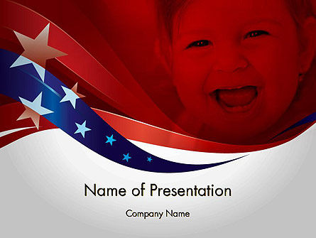 America: Red White and Pure PowerPoint Template #11832