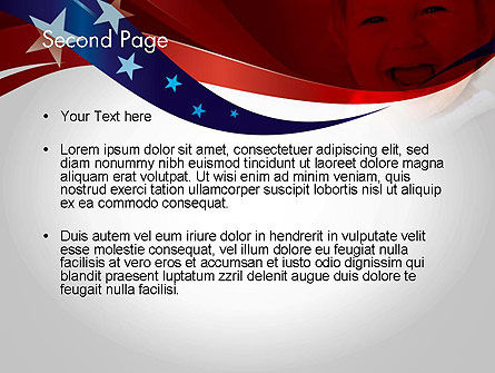 Red White and Pure PowerPoint Template Slide 2